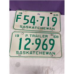 2 - 1968 Licence Plates