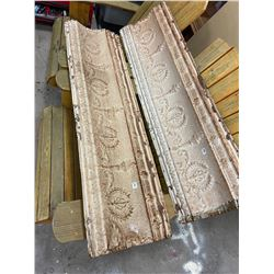 "2 - Large Pieces of Metal Ceiling Tile 49"" x 14"""