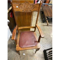 Press Back Oak Arm Chair
