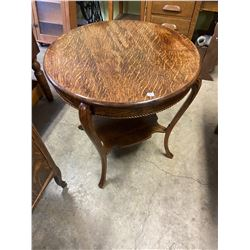 "1/4 Cut Oak Parlour Table ALL Refinished 30"" round & 30"" tall"