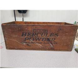 8.5  X 9.5  X 22  Vintage  Hercules Powders  Dato wood box
