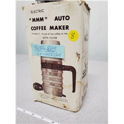 12V coffee maker, plugs into cigarette outlet
