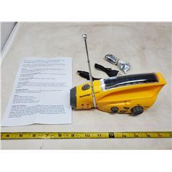 Solar powered - hand crank/radio/flash light/cell phone charger