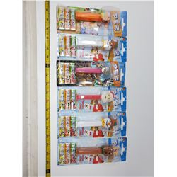 6 N.O.S. pak of pez, 5 different, 1 duplicate