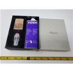 Zippo lighter, fluid & flints - New In Box