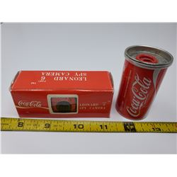 2 coca-cola pencil sharpener & Leonard spy camera