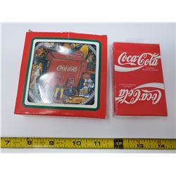 Coca cola playing cards (new) and set of 6 coasters