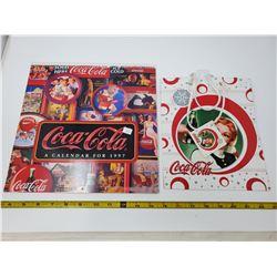 1 1997 Calendar & gift bag - both Coca-Cola