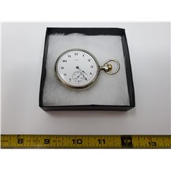 USA Elgin size 16 ser #8956476 silv. Case pocket watch with chain, in good working order