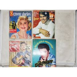 4 magazines - Elvis, Tommy Sands, Doris Day & Glen Campbell Music Book