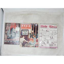 3 books on old radios 1938, 1949, 1978