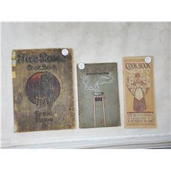 3 paperback cook books 1908, 1909, 1915