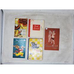 5 cook books 1940, 41, 42, 48, 50