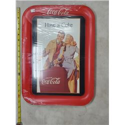 """Large 12.5 x 17.5"""" 1990 Coca Cola Tray w/ 1948 Advertising"""