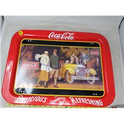 """Large 12.5 17.25"""" 1987 Coca Cola Flip Up Tray w/ 1924 Advertising"""