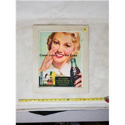 1951 'Come Over For Coke' framed ad