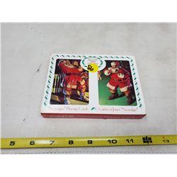 Pair of Coca Cola Santa NIB ltd edition playing cards