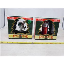 "(2) boxes ""Polar Bear Collection"" Christmas Tree Ornaments"