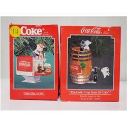 1992 & 1995  Coca-Cola Christmas ornaments