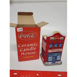 Ceramic candle house, new In box (no candle included)