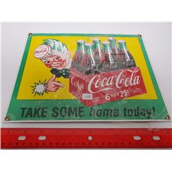 """Porcelain 8.5 x 11"""" """"Take some home today"""" sign"""