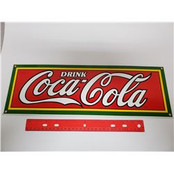 "Porcelain 6"" x 18"" ""Drink Coca-Cola"" sign"