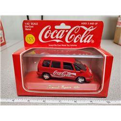 1:43 scale die cast Coca-Cola vehicle 1991 red