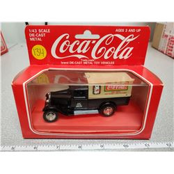 1:43 scale die cast coca-cola pickup truck black 1990