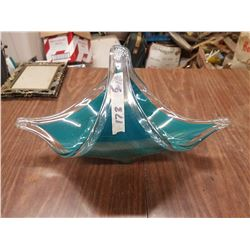 Glass Basket Shaped Dish
