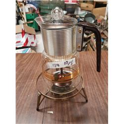 Glass Coffee Pot & Stand
