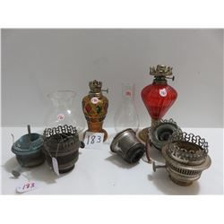 Perfume lamps, 2 chimneys, Aladdin parts