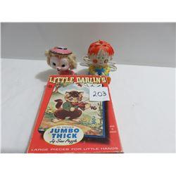 Child's night light, Cutie Pie look alike ornament. Little Darling puzzle