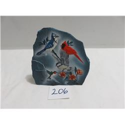 Reflection Bay Lite art - Original wildlife painting on slate