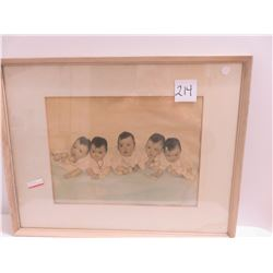 Dionne quintuplets when they were babies