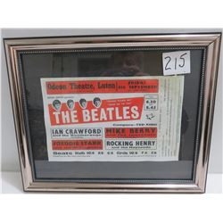 Beatle show advertisement in Briton during early years