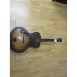 "Vintage ""F"" hole western guitar"