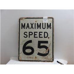 Highway speed sign 65 - 24 X 30