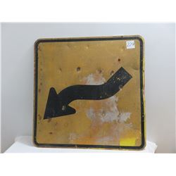 Curved highway sign - 30 X 30 heavy sign