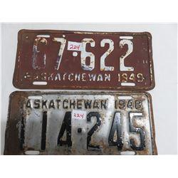 1948 & 1949 Saskatchewan license plate