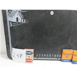 ABC Chalkboard, peacock crayons, alphabet cards