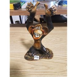 "Hange Loose Chimp Statue 10"" High"