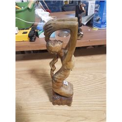 2007 Cuba Nude Woman Woodcarving Mahoganey?