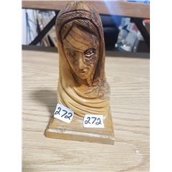 Mother Mary Woodcarving 6""