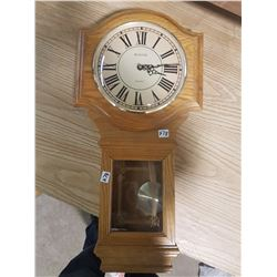 Bulova Quartz Oak Case Pendulum Clock