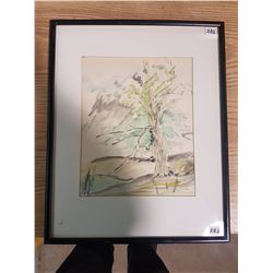 Framed Watercolor Pem Cordery