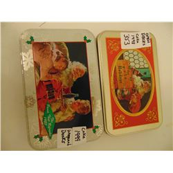 1998 USED 1999 UNUSED COKE PLAYING CARDS TINS