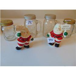 SANTA AND MASON JAR SALT & PEPPER SETS