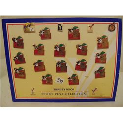 THRIFTY FOODS XV COMMONWEALTH GAMES PIN SET AND OTHERS
