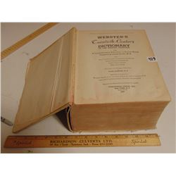 1937 LARGE WEBSTERS DICTIONARY