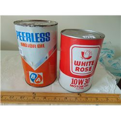 WHITE ROSE & PEERLESS OIL CONTAINERS